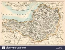 Bristol England Map by Map Of Somerset England 1870s Stock Photo Royalty Free Image