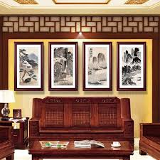 Chinese Living Room 2017 Mural Chinese Living Room Decorative Painting Framed