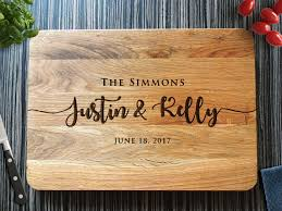 wedding gift cutting board personalized cutting board wedding gift custom bridal shower