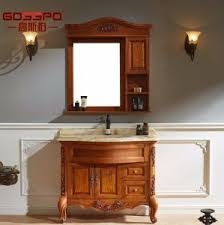 solid wood bathroom cabinet china modern flat panel solid wood bathroom vanity cabinets gsp9