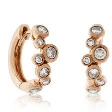 gold diamond hoop earrings gold brown diamond hoop earrings 14k ben bridge jeweler