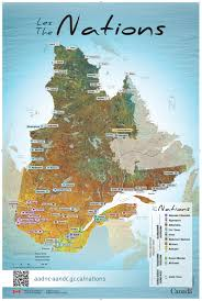 Quebec Canada Map Aboriginal Peoples In Quebec