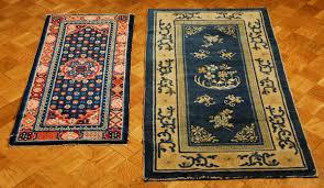 tappeti tibetani lotto di due tappeti tibetani xix inizio xx secolo
