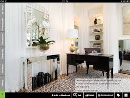 Crate And Barrel Dubois Mirror by Hallway Table With Mirror