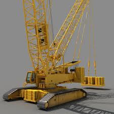 crawler crane 3d model cgstudio