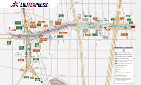 Dallas Metro Map by Lbj Texpress Lanes Maps Texpress Lanes