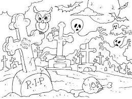 monster spooky halloween coloring pages kids hallowen