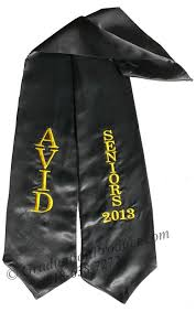 graduation scarf avid seniors graduation stole sashes as low as 5 99 high