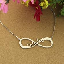 Infinity Name Necklace Tripleclicks Com Personalized Infinity Single Name Silver Gold