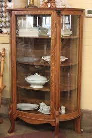china cabinet oak bow front corner china cabinetoak cabinets and