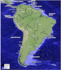 Map Equator South America by Map Showing Currents And Bathymetry Around The South American