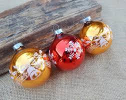 vintage gold glass tree ornaments gold mercury