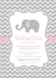 How To Make Baby Shower Invitation Cards Pink Elephant Baby Shower Invitations Kawaiitheo Com