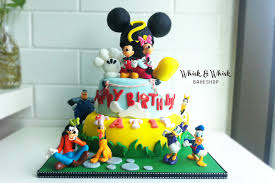 mickey mouse clubhouse birthday cake whisk and whisk bakeshop