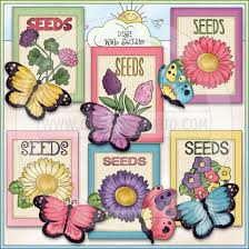 flower seed packets butterfly seed packets 1 ne cheryl seslar clip digi web
