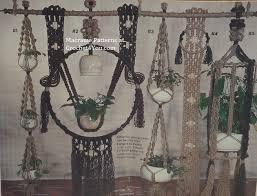 ha 45 macrame curtains and room dividers patterns at crochet4you com