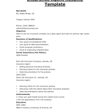Life Insurance Agent Resume Cover Letter Insurance Resume Examples Examples Of Insurance Agent