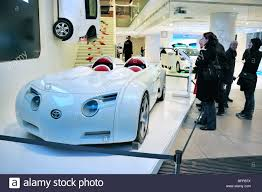 showroom toyota paris france women shopping in new car showroom toyota concept