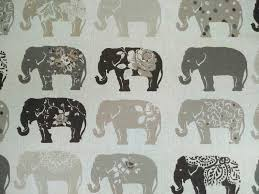 Elephant Curtains Uk Clarke U0026 Clarke Elephants Natural F0794 01 Curtain Fabric