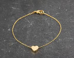 gold chain heart bracelet images Heart bracelet etsy jpg