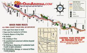 Tucson Arizona Map by Exploring The American West Rillito River Trail Tucson Arizona