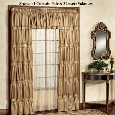 solid color curtains touch of class splendor tailored curtain pair gold 72 x 84