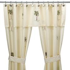 Shower Curtain And Valance Double Swag Shower Curtain Foter