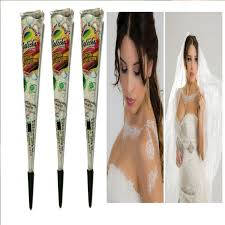 3pcs white henna tattoos paste natural face painting indian henna