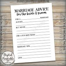 Advice Cards For Bride Marriage Advice Cards Bride U0026 Groom Advice Wedding Advice