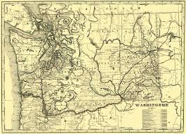Railroad Map Old Railroad Map Washington Railroads 1892