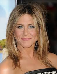 medium length hairstyles for hair parted in middle with bangs jennifer aniston medium length hairstyle center part pretty designs