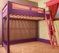 Build Your Own Loft Bed With Desk by Bedroom Design Best Raw Wood Loft Bed Design With Storage And