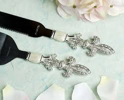 wedding cake server fleur de lis wedding cake server set wedding collectibles