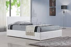 4ft Ottoman Beds Uk Birlea Berlin Ottoman 4ft Small White Faux Leather Bed