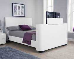 Milan Bed Frame Bed Company Newark 4ft 6 Tv Bed White