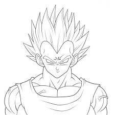 imagenes de goku para dibujar faciles con color dragon ball z para colorear