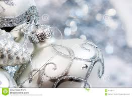 ivory and silver ornaments stock photography image