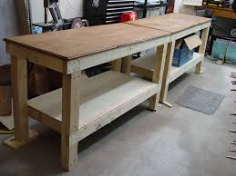 Building A Wooden Desk by Best 25 Workbench Plans Ideas On Pinterest Work Bench Diy