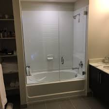 tub with glass shower door undefined frameless shower doors tub enclosures blessed door