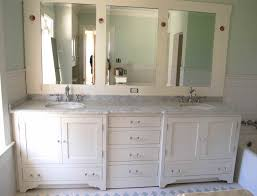 Bathroom Vanity Ideas Double Sink by Bathroom Vanities With Two White Mirrors And Sconce Small Bathroom