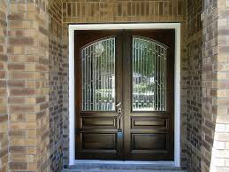 custom craftsman style double entry door with transom this is