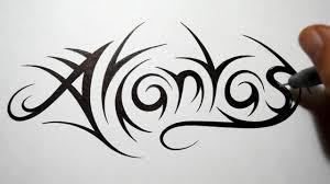 tribal name tattoo ideas how to draw tribal names atlantas youtube