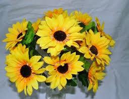 Artificial Sunflowers Silk Sunflowers Amazon Co Uk