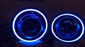 jeep wrangler blue headlights jeep wrangler jk hid projector headlights color changing halos