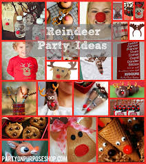 reindeer party ideas party on purpose