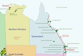 Map Of Queensland Queensland Maps Queensland Australia Picturesworks Com