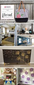 home decor stencils 7 decorating ideas using beautiful floral stencils stencil stories