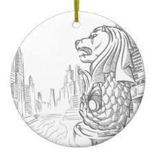merlion ornaments keepsake ornaments zazzle