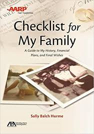 aba aarp checklist for my family a guide to my history financial