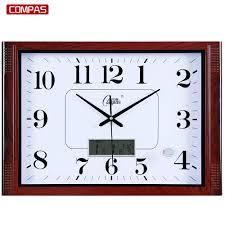 compas living mute 20 inch wall clock atmospheric minimalist
